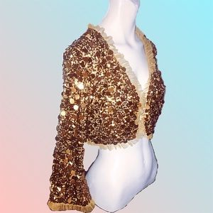 🔥Host Pick🔥Betsey Johnson cropped sequin jacket